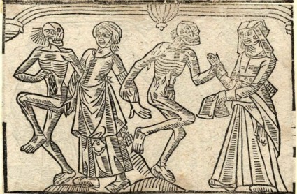 Recto: chambermaid and housekeeper of the Dance of Death 