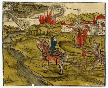 Recto: Scene from De philosophico consolatu<br />Verso: Letterpress