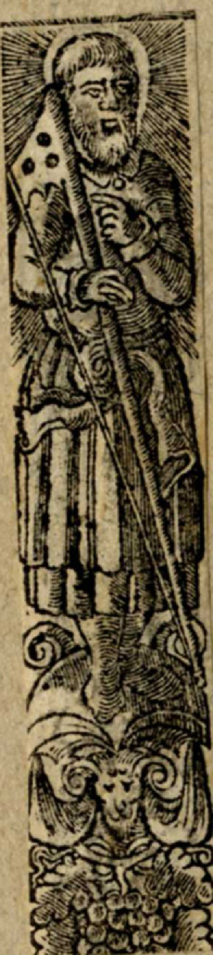 Male saint with a saw
