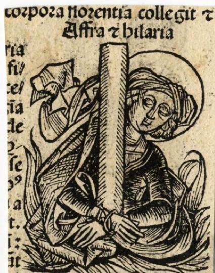 Recto: Saint Afra and Hilaria<br />Verso: Saint Felix and Adauctus