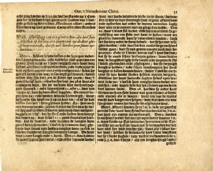 Page from Commelin's collection of voyages