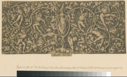 Ornamental engraving with Morris Dancers