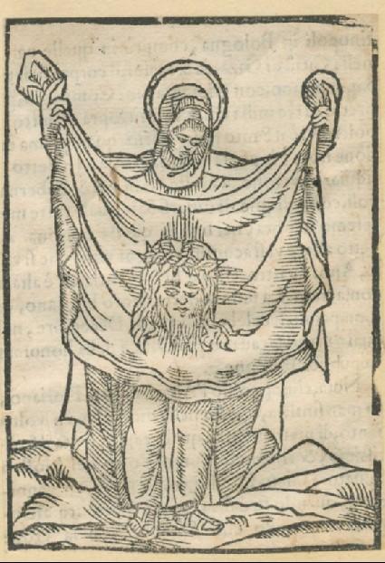 St Veronica holding the Sudarium