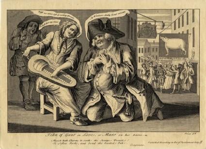 John of Gant in Love, or Mars on his knees