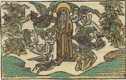 Angels Rescuing Saint Anthony from Demons