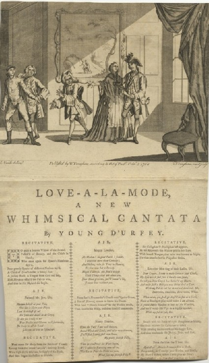Love-a-la-Mode, a new whimsical cantata by Young D'Urfey