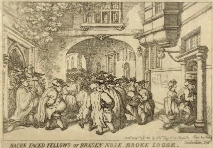 Bacon faced fellows of brazen nose, broke loose