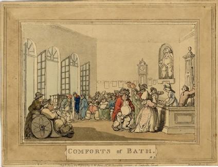 Comforts of Bath. Plate 3