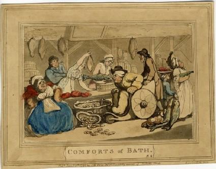 Comforts of Bath. Plate 4