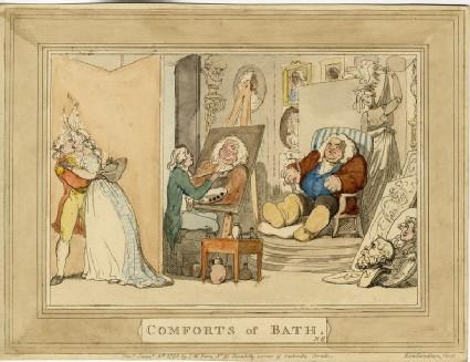Comforts of Bath. Plate 6