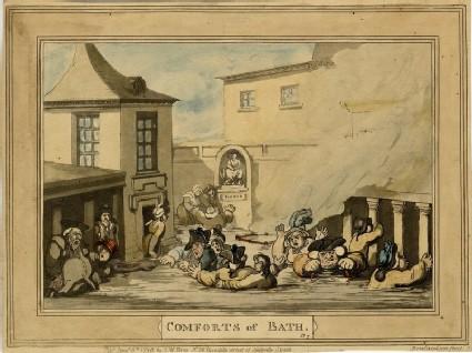 Comforts of Bath. Plate 7