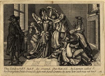 Women fighting over dildo