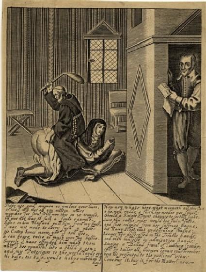 Friar whipping a nun