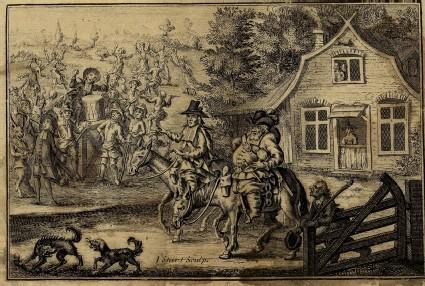 A scene from Hudibras