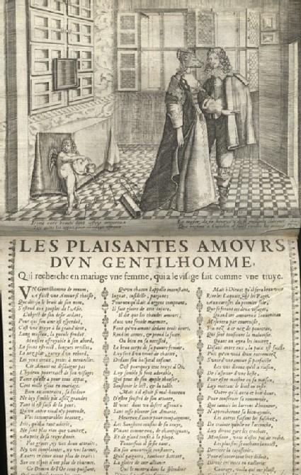 Les Plaisantes Amours d'un Gentilhomme qui recherche en mariage une femme, qui a le visage fait comme une truye