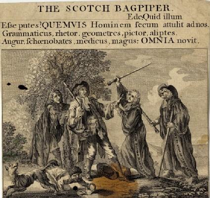 The Scotch bagpiper