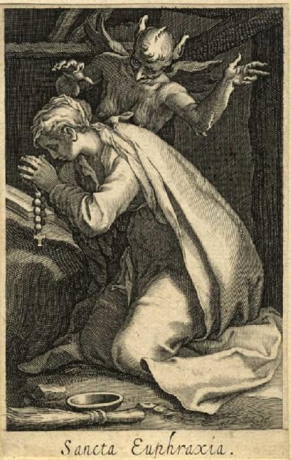 Saint Euphrasia Tempted