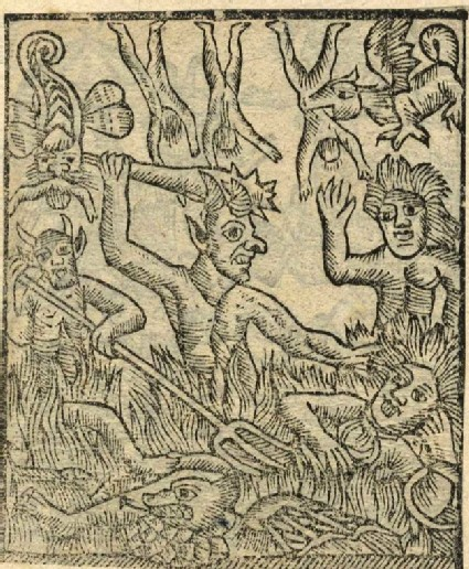 Recto: Souls in Torment <br />Verso: unidentified woodcut