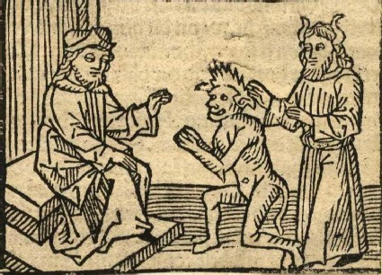 King Solomon with Devil and Demon