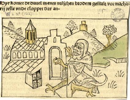Devil at the Door of a Convent