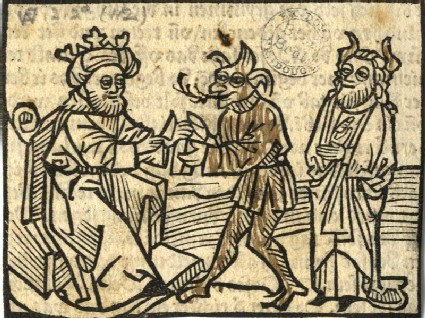 King Solomon with Demon and Devil