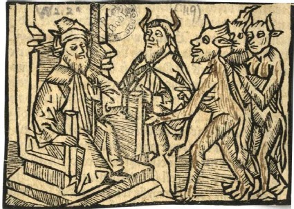 King Solomon with Devil and Demons