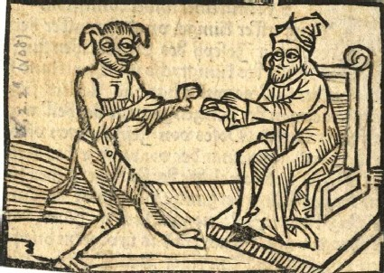 Seated Man with the Devil