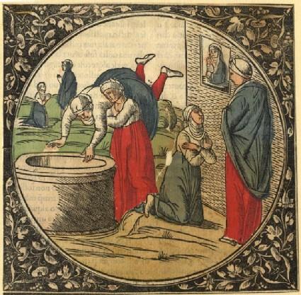 Woman Thrown Down a Well