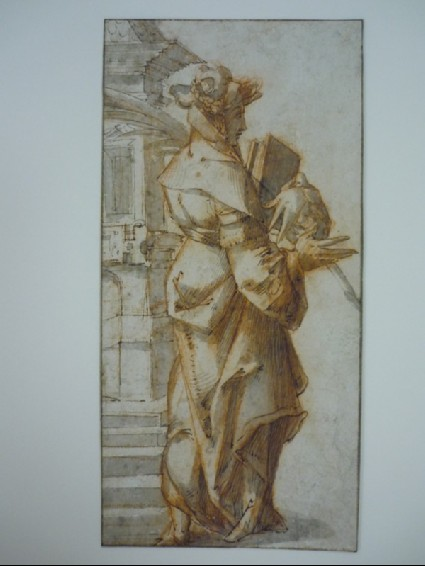 Recto: St Barbara (possibly)