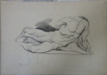 Study after the river god from the West pediment of the Parthenon