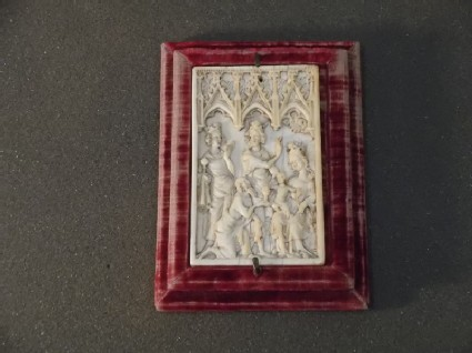 Ivory panel, the Adoration of the Magi