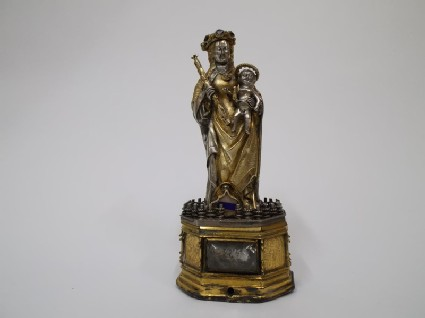 Figures of the Virgin and Child reliquary