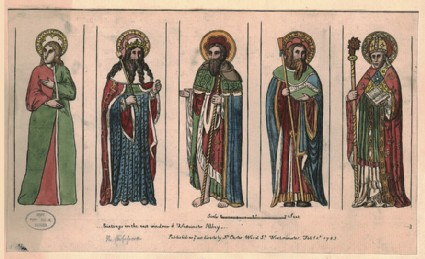 Portrait of Edward the Confessor and others