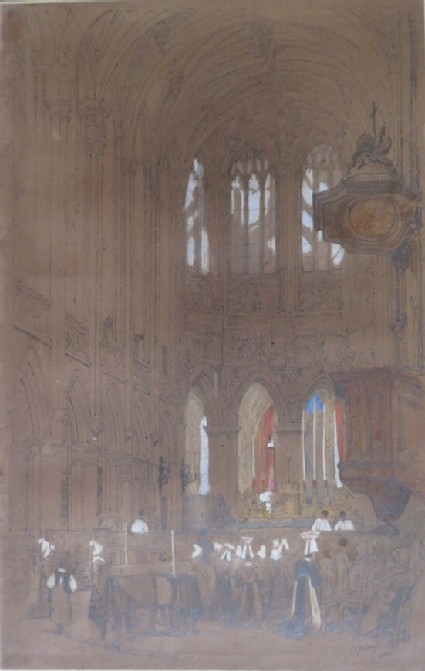 The Interior of the Church of St Pierre, Caen