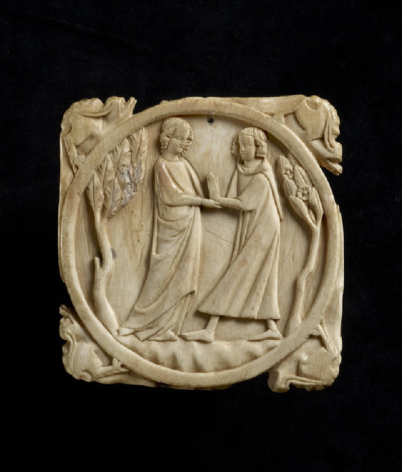 Mirror-case back with two lovers meeting (AN1685.A.585, AN1685 A.585)