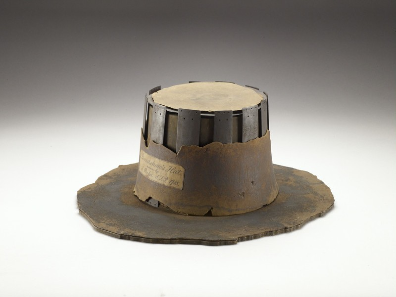 Armour-plated hat (Bradshaw's hat) (AN1836.p178.21)