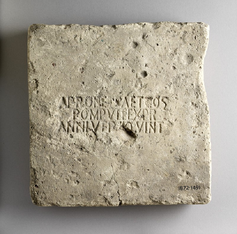 Brick stamped with Latin script (AN1872.1491)