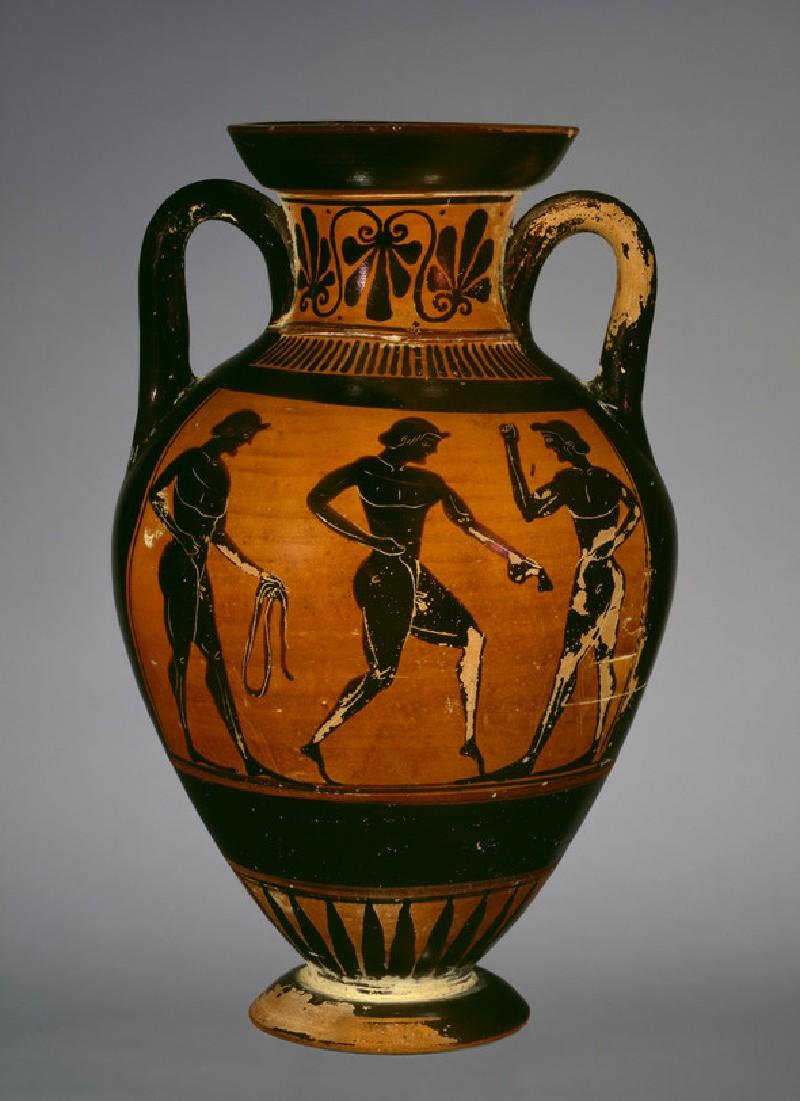 Attic black-figure pottery amphora of Panathenaic shape (AN1884.708)