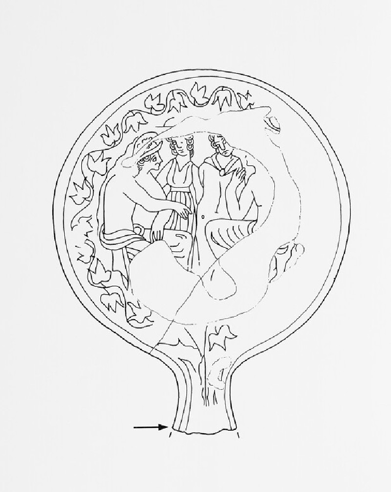 Mirror with scene of the Judgement of Paris