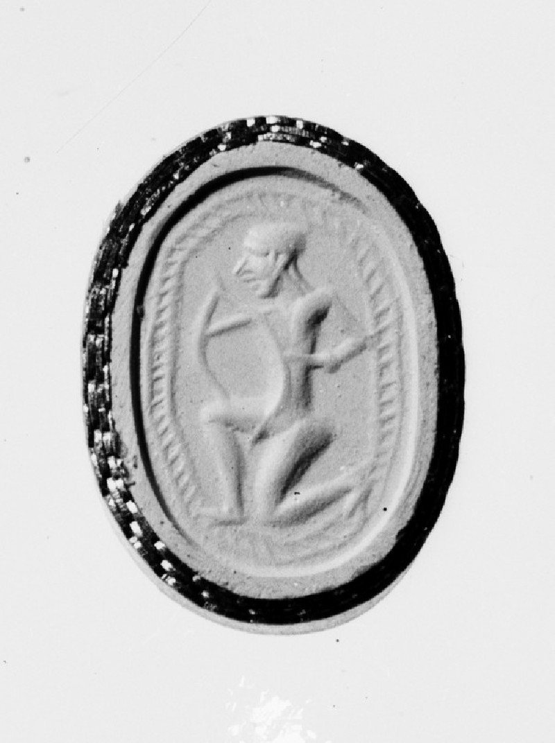 Scarab stamp seal with an archer (AN1889.713)