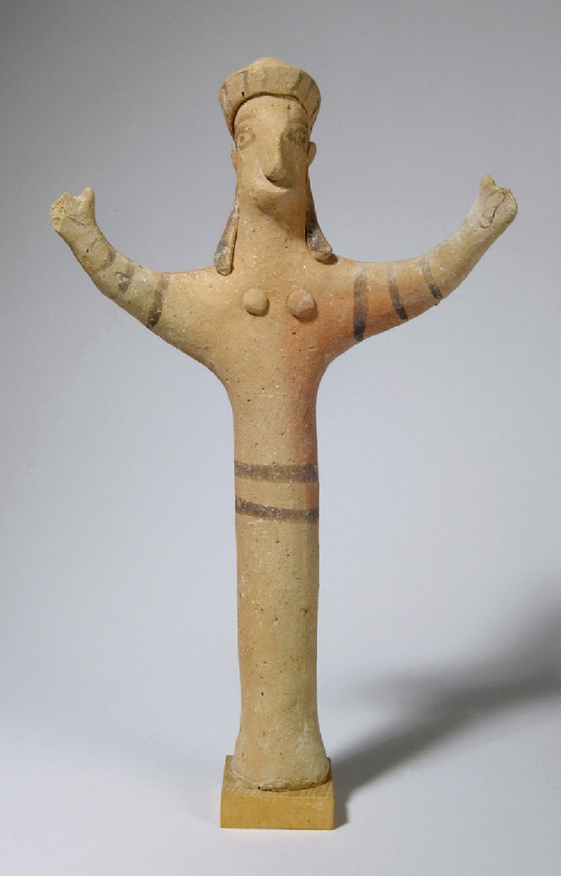 Figurine of female with diadem and upraised arms (AN1890.702)