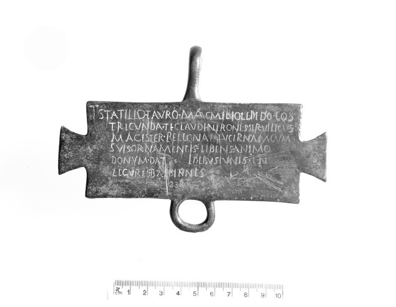 Bronze tablet dedicated to Bellona