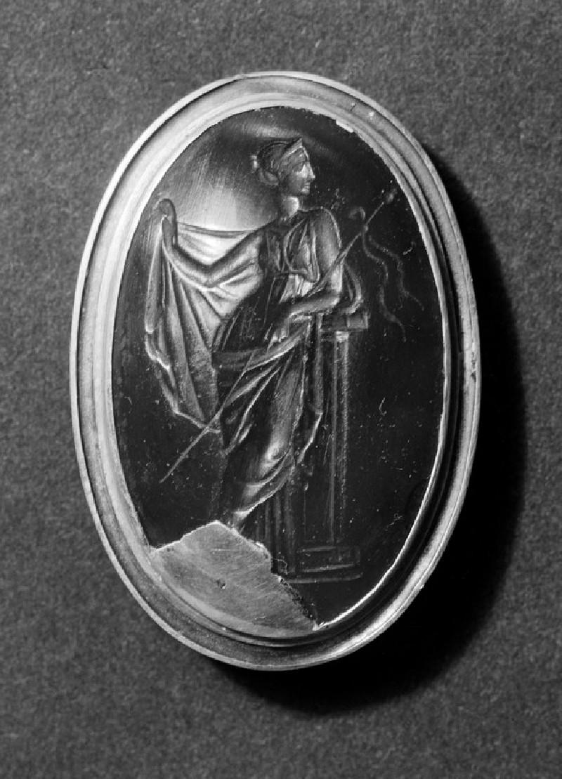 Intaglio gem depicting Maenad, Aphrodite or Hera (AN1892.1515)
