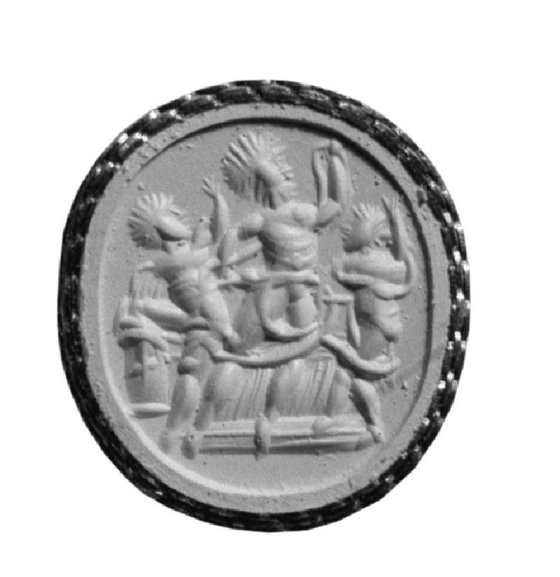 Intaglio gem depicting Zeus Serapis (AN1892.1550)