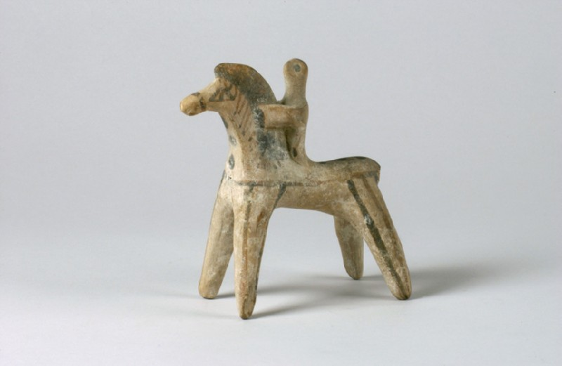 Horse and rider figurine