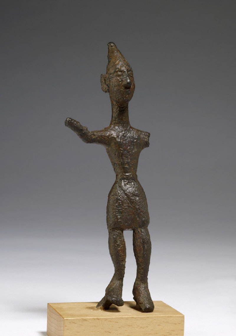 Bronze figurine of striking god (AN1896-1908.AE.13)