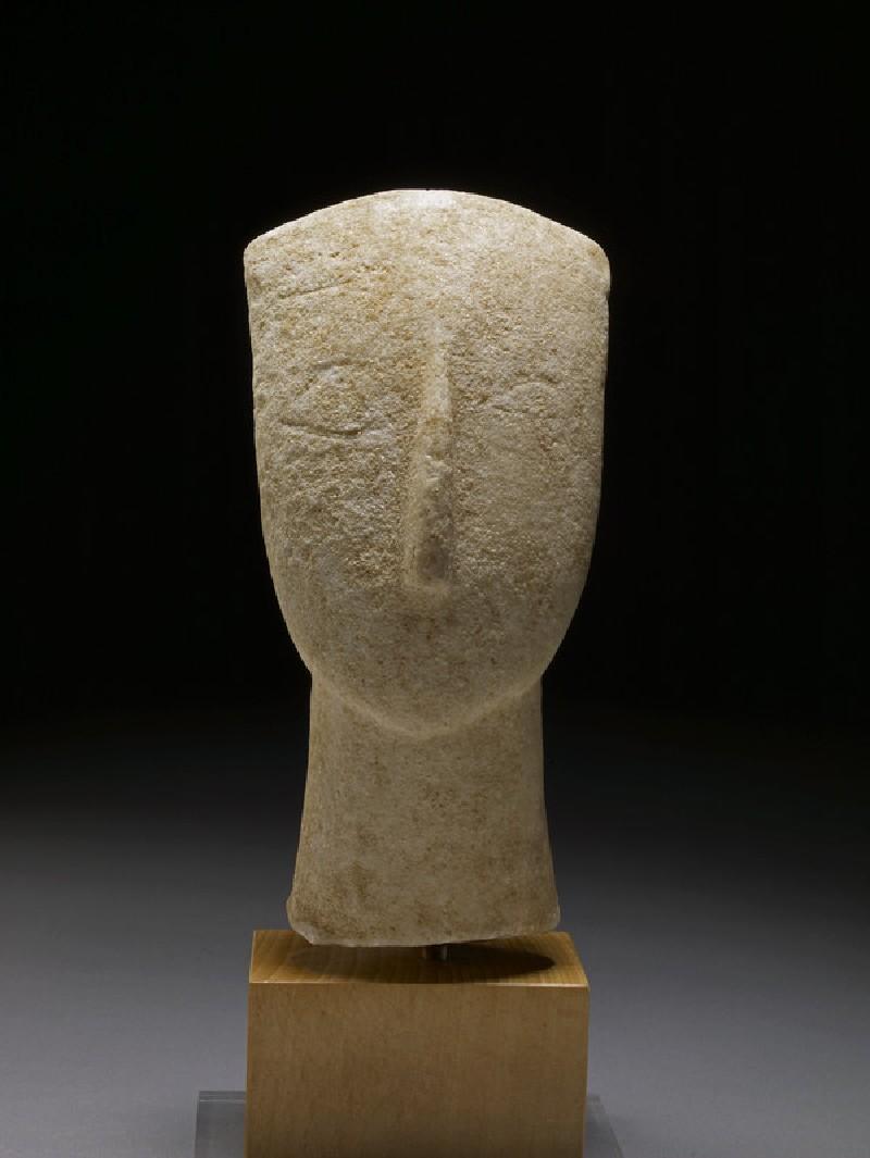 Head of Cycladic figurine (Spedos type)