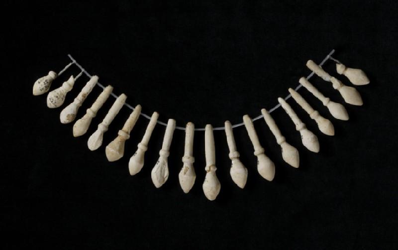 Nineteen marble beads
