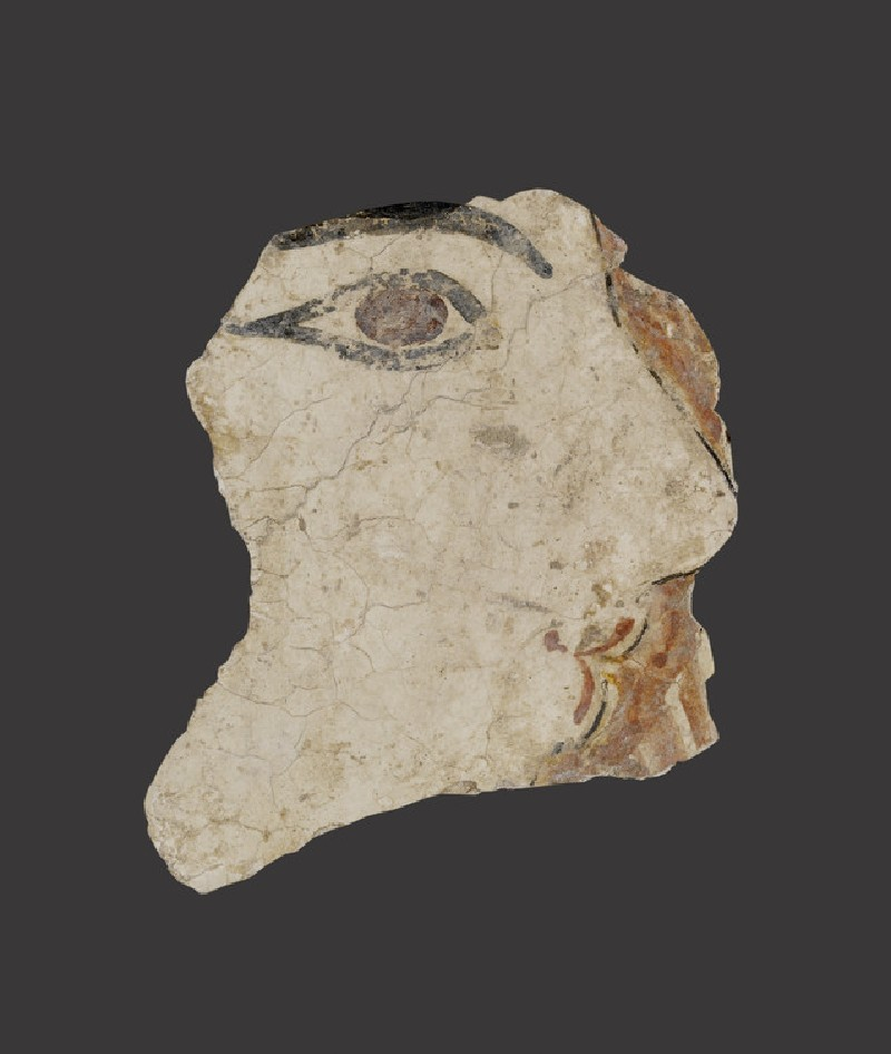 Fresco fragment showing part of a woman's face