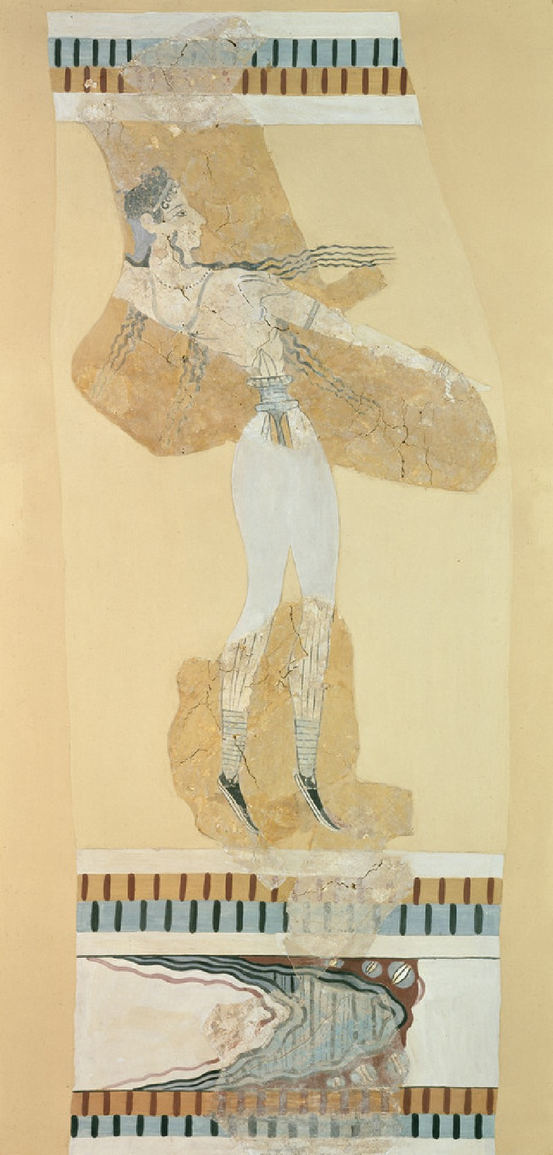 Fresco fragment of a bull-leaper (AN1896-1908.AE.1708)